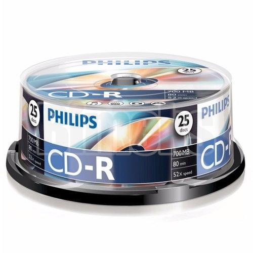 PHILIPS CD-R 25LİK CAKEBOX CD 25li Paket